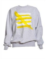 Paper London - Gray Grey Marl Matisse Sweatshirt - Lyst