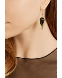 Rosantica | Black Calle Gold-tone Beaded Earrings | Lyst