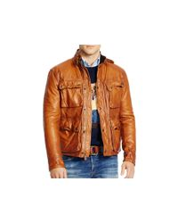 Pink Pony | Brown Polo Southbury Leather Bike Jacket for Men | Lyst