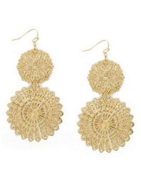 BCBGMAXAZRIA | Metallic Filigree Disc Earrings | Lyst