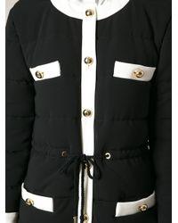 Moschino - Black Padded Coat - Lyst