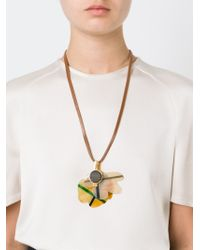 Marni - Yellow Floral Pendant Necklace - Lyst