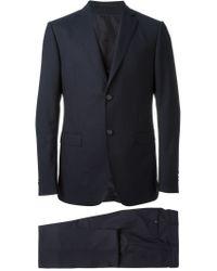 Z Zegna - Blue Patterned Three-piece Suit for Men - Lyst