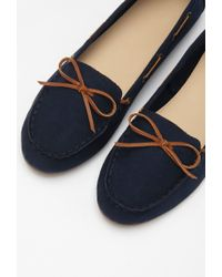 Forever 21 - Blue Faux Suede Loafers - Lyst
