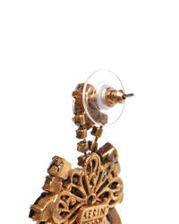 Aerin | Metallic X Erickson Beamon Crystal Drop Earrings | Lyst