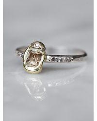 Free People | Metallic Raw Diamond Ring | Lyst