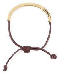 DIESEL - Metallic 'Aswet' Bracelet - Lyst