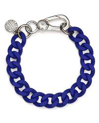 Marc By Marc Jacobs - Blue Rubber Chain Bracelet - Lyst