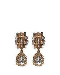 Erickson Beamon | Metallic 'damsel' Teardrop Crystal Earrings | Lyst