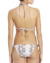Heidi Klein - Multicolor Python-print Rope Triangle Bikini Top - Lyst