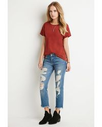 Forever 21 | Brown Cutout-back Tee | Lyst