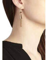 Eddie Borgo - Pink Rose Gold-plated Chain Tassle Earrings - Lyst