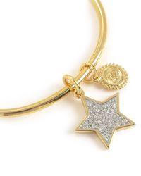 Juicy Couture | Metallic Pave Star Slider Bangle Bracelet | Lyst