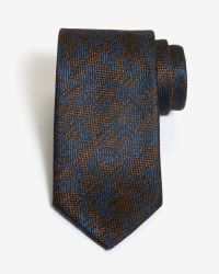Ted Baker | Blue Textured Pattern Silk Tie for Men | Lyst