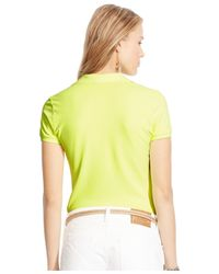 Polo Ralph Lauren | Yellow Skinny Stretch Polo Shirt | Lyst