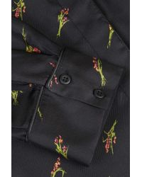 TOPSHOP | Black Twinkle Pyjama Style Shirt By Boutique | Lyst