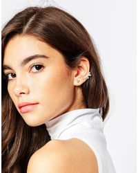 ASOS | Metallic Triangle Ear Cuff And Stud Earring | Lyst