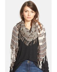 Vince Camuto - Brown Multi Stripe Scarf - Lyst
