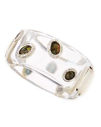 Alexis Bittar - Multicolor Large Clear Lucite Smoky Quartz Bangle - Lyst