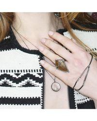 Adornia | Gray Champagne Diamond Shaker Pendant Tribute Necklace | Lyst