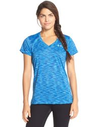 Under Armour | Blue 'disruptive' Space Dye Top | Lyst