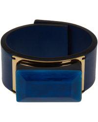 Marni | Blue Resin Cuff Bracelet | Lyst