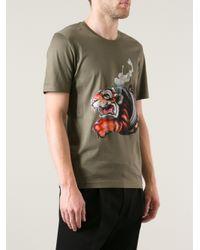 Juun.J | Green Tiger Design Tshirt for Men | Lyst