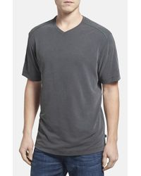 Tommy Bahama | Gray 'Pebble Shore' V-Neck T-Shirt for Men | Lyst