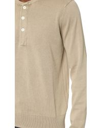 Rag & Bone | Natural Standard Issue Henley Sweater for Men | Lyst