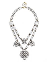 BaubleBar | Metallic Dahlia Layered Necklace | Lyst