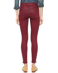 Hudson Jeans | Purple Nico Mid Rise Super Skinny Jeans | Lyst