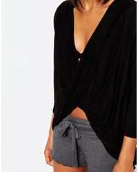 Y.A.S - Knot Top - Black - Lyst
