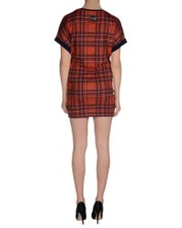 Philipp Plein Red Short Dress