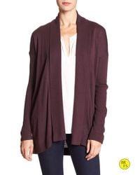 Banana Republic | Purple Factory Button-sleeve Cardigan | Lyst