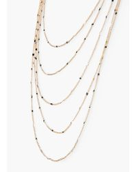 Mango - Metallic Multiple Chain Necklace - Lyst