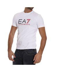 EA7 | White T-shirt for Men | Lyst