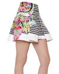 Manish Arora | White Printed Duchesse Box Skirt | Lyst