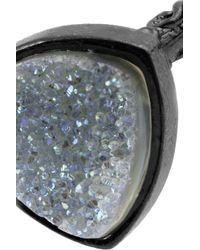 Dara Ettinger - Metallic Gunmetalplated Druzy Ring - Lyst