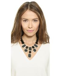 kate spade new york | Jackpot Jewels Statement Necklace - Black | Lyst