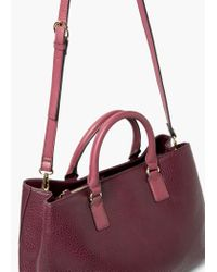 Violeta by Mango - Red Pebbled Tote Bag - Lyst