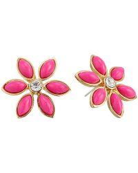 kate spade new york - Pink Eyelet Garden Studs Earrings - Lyst