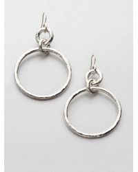 Ippolita - Metallic Sterling Silver Open Snowman Earrings - Lyst
