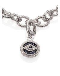 Judith Ripka - Metallic Multicolor Sapphire & Sterling Silver Evil Eye Charm - Lyst