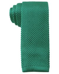 Tommy Hilfiger | Green Knit Solid Slim Tie for Men | Lyst