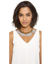 Juicy Couture - Metallic Brillant Blooms Flower Cluster Necklace - Lyst