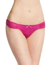 Catherine Malandrino - Pink Sweetheart Lace-trim Bikini - Lyst