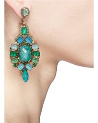 Aerin | Green X Erickson Beamon Crystal Drop Earrings | Lyst