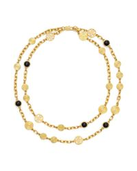 Tory Burch | Metallic Livia Double-Strand Necklace | Lyst