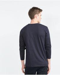 Zara | Blue Relax Fit T-shirt for Men | Lyst