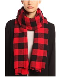 BOSS Orange - Red Cotton Scarf 'napunks' - Lyst